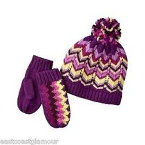 New Nwt Missoni Target Baby Girls Knit Hat Mittens Set in Grape Zigzag One Sz Photo