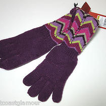 New Nwt Missoni Target Girls 4/5 Ladylike Long Gloves Purple Zigzag Xs S Photo