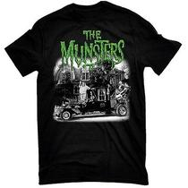 New Nwt Munster's Family Hot Rod Coach Original Cast Licensed T-Shirt X-Large Photo