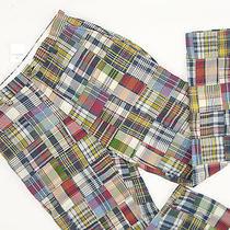 New Nwt Polo Ralph Lauren Madras Patchwork Pants  35 X 32  Unique & Rare Photo