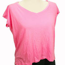 New Nwt Splendid - Bright Neon Pink Oversized T Shirt -100% Supima Cotton Top Xs Photo