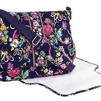 New Nwt Vera Bradley Messenger Baby Diaper Bag in Ribbons Photo