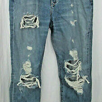 New Nwt Womens Designer Lovers  Friends Distressed Denim Blue Jeans 30  Photo