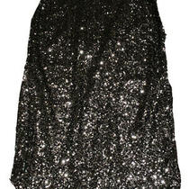 New Nwt Womens Express Black Sequin Pencil Holiday Party Skirt Size 0 Back Slit Photo