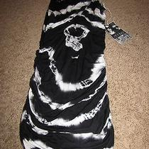 New Nwt Young Fabulous & Broke Lina Tie-Dye Jersey Maxi Dress Black/white Xs Photo