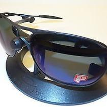 New Oakley Crosshair Sunglasses Matte Black Frame Ice Iridium Polarized Lenses Photo