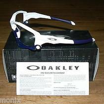 New Oakley Custom Jawbone White/navy Blue Custom Frame Only Photo