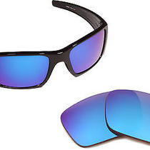 New Oakley Fuel Cell Polarized Blue Mirror Replacement Polycarbonate Lenses Photo