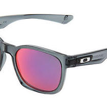 New Oakley Garage Rock Sunglasses Crystal Black Frame W/ Red Iridium Lens Photo