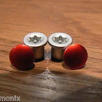 New Oakley Jawbone/racing Jacket/split Jacket Anodized Red Thru Bolt Set Photo