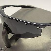New Oakley M Frame Strike Sunglasses Metallic Black / Vented Black Iridium Lens Photo
