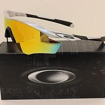 New Oakley M2 Frame Sunglasses  Silver Frame W/ Fire Iridium Lens  9212-04 Photo