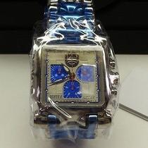 New Oakley Minute Machine Polished Blue & Silver Dial Face Watch 26-328 Photo