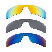 New Oakley Oil Rig Blue Yellow Black Mirror Combo Replacement Seek Lenses Photo