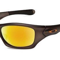 New Oakley Pit Bull Sunglasses Gunmetal Fmj/fire Iridium Asian Photo