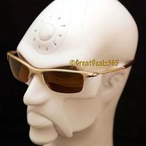 New Oakley Razrwire Nbt Sunglasses Platinum Rootbeer Frame Gold Iridium  05-837 Photo