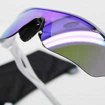New Oakley Sunglasses Radarlock Edge Matte White Violet Iridium Photo