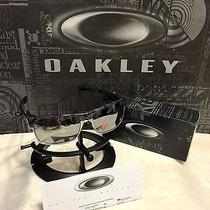 New Oakley Twoface Polished Black Chrome Ghost Text & Chrome Polarized Oo9189-14 Photo