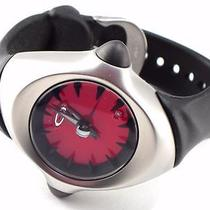 New Oakley Watch Crush Stainless Steel Red Dial Analog 10-102 Photo