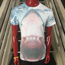New Official Shark Jaws Animal Print Beach Dj Surfer Express Summer Tshirt S S Photo