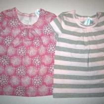 New Old Navy Girls Lot of 2 Shirts Pink Short Sleeve & Pink Gray Size 5t Nwt Photo