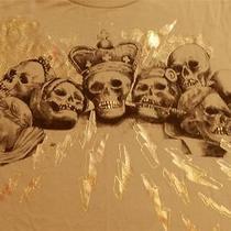 New Old Stock Marc Ecko Cut & Sew Skulls N Bolts T-Shirt L Ny Times Square Photo
