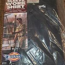 New Old Stock Vintage Dickies Short Sleeve Work Shirt Xxxl Gray Usa Made 3xl Photo
