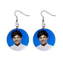 New One Direction Louis Tomlinson Liam Payne Photo Key Chain & Earrings Photo