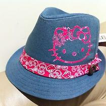 New One Hello Kitty Fedora Hat Gray Size S/m Photo