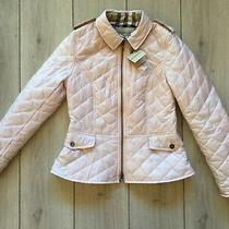 New Original Burberry Women Pastel Pink Quilted Jacket Size Xxl (Us -08  It-44) Photo