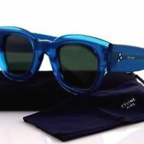 New Original Celine Made in Italy Sunglasses 41446/s Mr8 Qt 45 26 145 Blue Color Photo