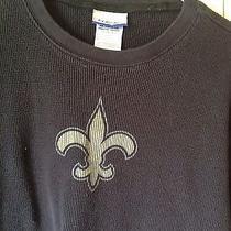 New Orleans Saints Thermal Shirt. Size Large. Mint Photo