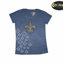 New Orleans Saints Womens Game-Day Tee.......large.......licensed Reebok Gear Photo