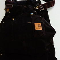 New Other Carhartt Bib Overalls 40/32 Mens Brown Photo