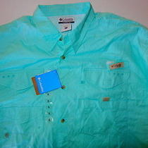 New Other Columbia Bonehead Ls Shirt Fm7120 Xl Mens Teal Photo