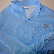 New Other Columbia Freezer Ls Shirt Xxl Mens Light Blue Photo