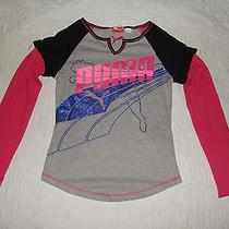 New Others Puma Girl's T Shirt Size S Gray Photo