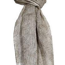 New Paolo Mariani Italy Natural Beige Woven Linen Camilla Frayed Scarf 68 272 Photo