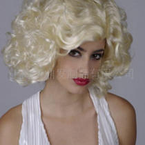 New Party Afro Clown Costume Funky Curly Wig Hair 70's Pimp Fancy Marilyn Monroe Photo