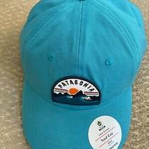 New Patagonia Low Crown Boardie Badge Trad Hat Cap Adjustable Mako Blue  Photo