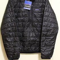 New Patagonia Men's Nano Puff Pullover Jacket Windproof Medium Black W/tags Photo