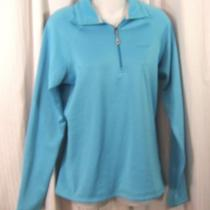 New Patagonia Sz. M Women's R1 Turquoise 1/4 Zip Polar Tec Fleece Pullover M Photo