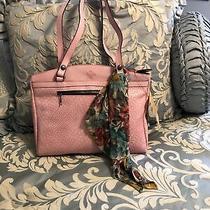 New Patricia Nash Leather Wavy Weave Poppy Tote Blush Pink 249.99 Photo