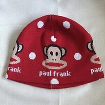 New Paul Frank Julius Monkey Red Youth Beanie Hat Knitted  Photo