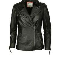 New Pepe Jeans London Lamb Leather Black Biker Moto Jacket Coat Size Xs Nwt Photo