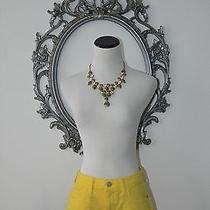 New Picro Anthropologie Sexy Casual Dolphin Yellow Shorts Size 28 Medium Photo