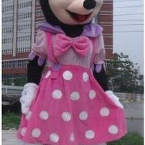 New Pink Minnie Mouse Fancy Adult Cartoon Mascot Costume Gift Photo