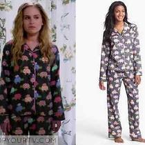 New Pj Salvage Cotton Sateen Pajama Set Turtles L Seen on Tv Photo