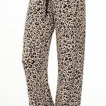 New Pj Salvage Heart Leopard Modal Smooth Jersey Stretch Lounge & Sleep Pants S Photo