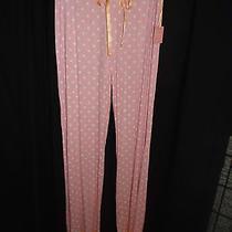 New Pj Salvage Pink & White Polka Dot Smooth Stretch Modal Lounge Sleep Pants M Photo